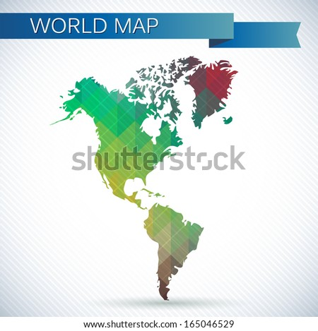 Hemisphere map stock images royalty free images vectors western hemisphere globe bright vector map of the world north america south america gumiabroncs Gallery