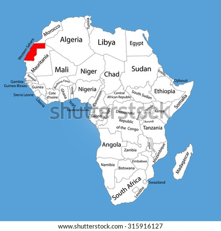 Western Sahara Vector Map Silhouette Isolated Stock Vector HD