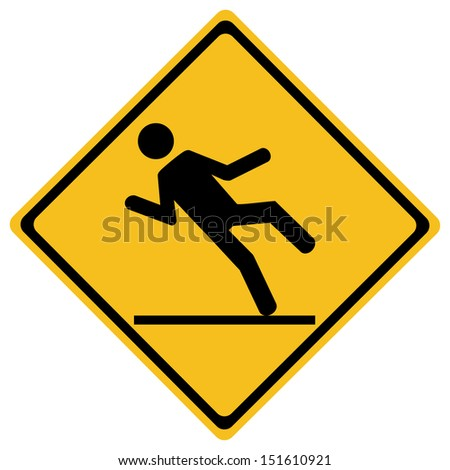 Wet floor sign, vector illustration - stock vector