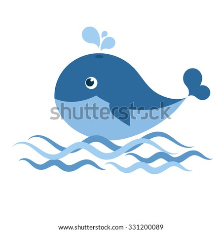 whale - stock vector