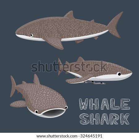 Whale Shark Cartoon Vector Illustration - stock vector