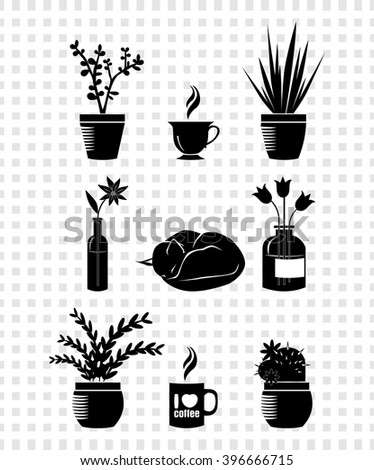 stock-vector-what-lies-on-the-windowsill-396666715 Chamomile Houseplant on