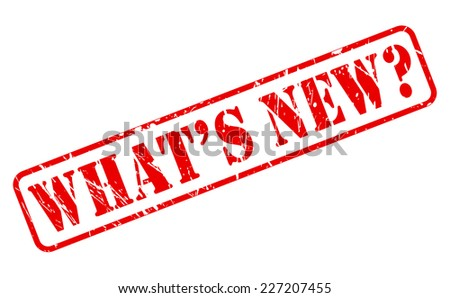 What's new red stamp text on white - stock vector