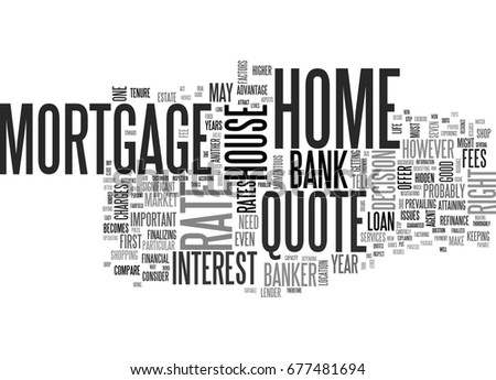 Mortgage Quote Beauteous What Bank Won T Tell You Stock Vector 677481694  Shutterstock