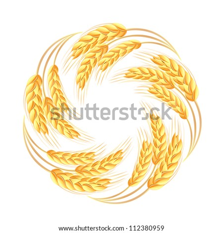 Wheat ears icon - stock vector