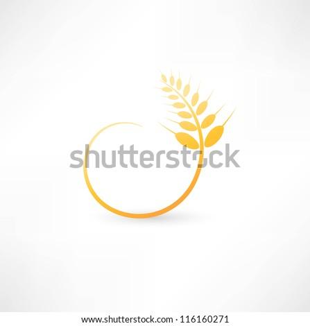 Wheat ears icon - stock vector
