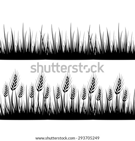 Wheat grass green icon juice black. Logo, banner, frame for business, the store site for clean super food on a white isolated background. Vector illustration EPS-10