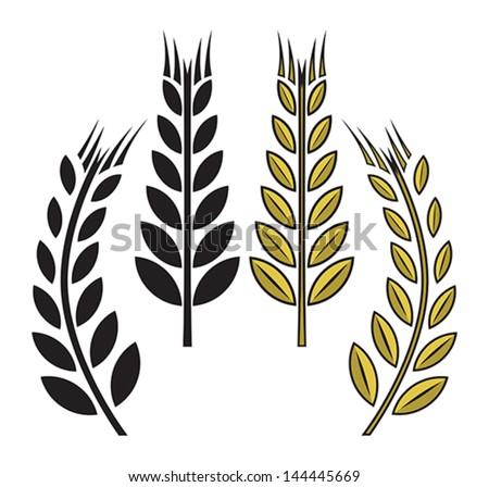 wheat icon - stock vector