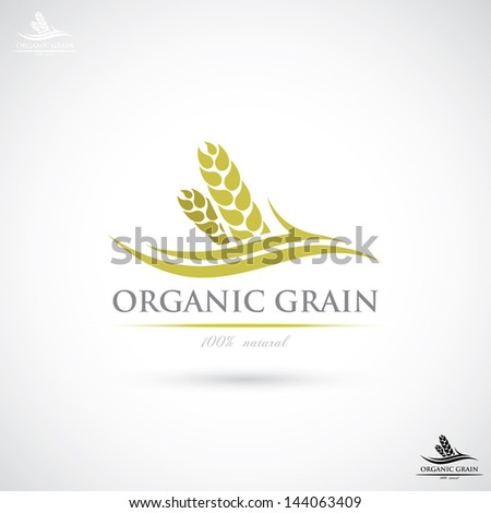 Wheat label - vector illustration - stock vector