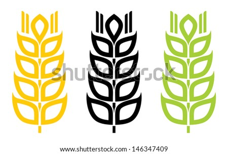 wheat sign - stock vector