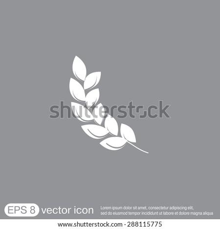 wheat spike ears icon - stock vector