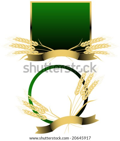 Wheat vector. - stock vector