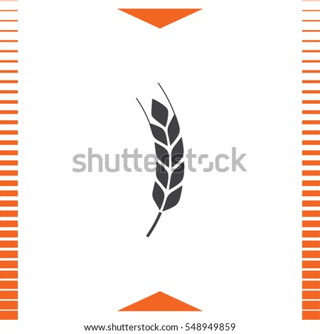 Wheat vector icon. Organic whole grain sign. Agriculture symbol