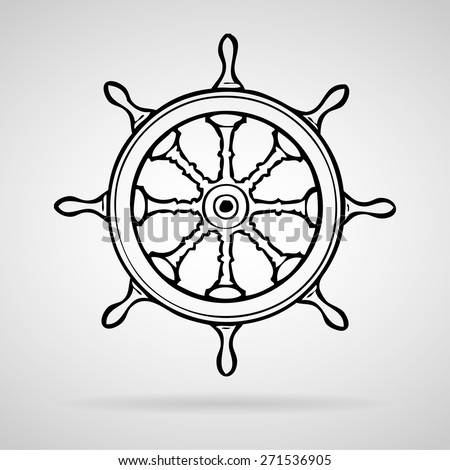 wheel  boat icons set great for any use. Vector EPS10. - stock vector
