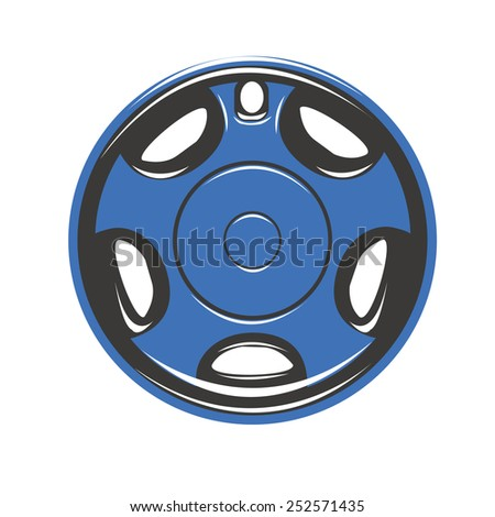 Wheel Cover Car Tires - stock vector