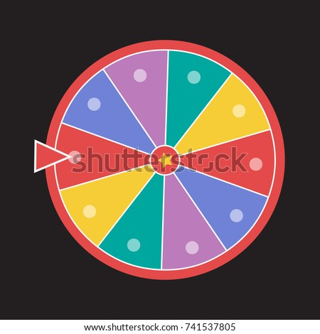 wheel luck fortune. Wheel of fortune vector illustration