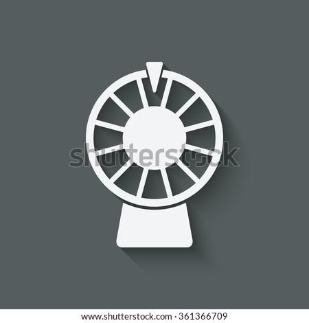 wheel of fortune symbol. vector illustration - eps 10 - stock vector