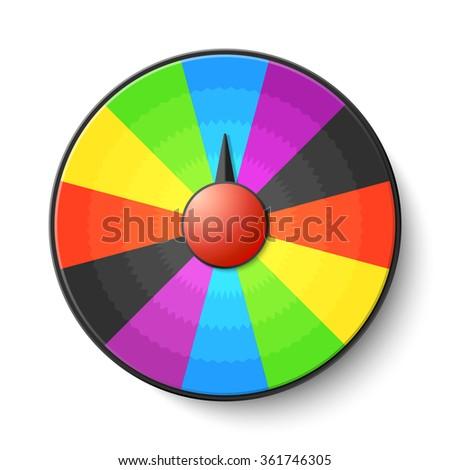 Wheel of fortune. Vector. - stock vector