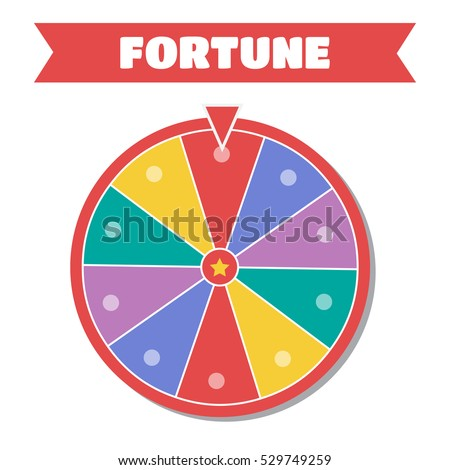Wheel of fortune vector illustration. Wheel of fortune logo