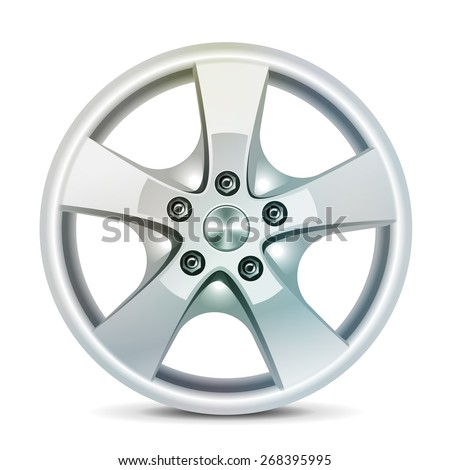 Wheel rim, vector Car rim, alloy wheels