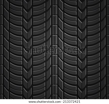 Wheel tire seamless pattern. Vector realistic illustration - stock vector