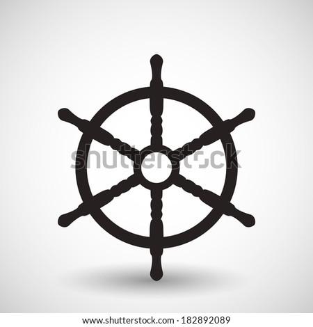 Wheel. Vector symbol - stock vector