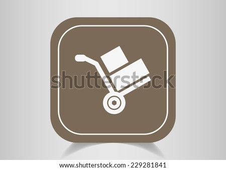 wheelbarrow for transportation of cargo, web icon. vector design - stock vector