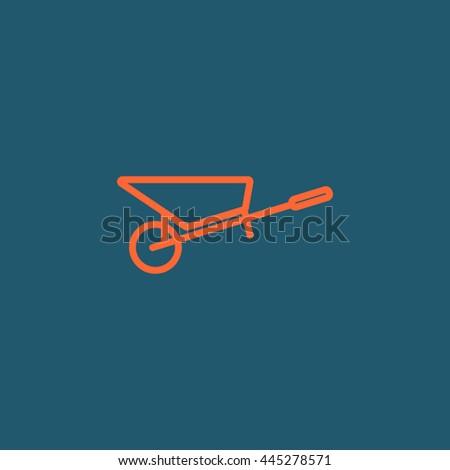 Wheelbarrow Icon Vector. Wheelbarrow Icon JPEG. Wheelbarrow Icon Object. Wheelbarrow Icon Picture. Wheelbarrow Icon Image. Wheelbarrow Icon Graphic. Wheelbarrow Icon Art. Wheelbarrow - stock vector