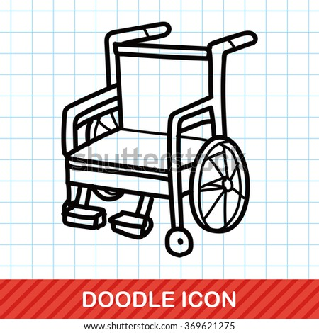 Wheelchair color doodle
