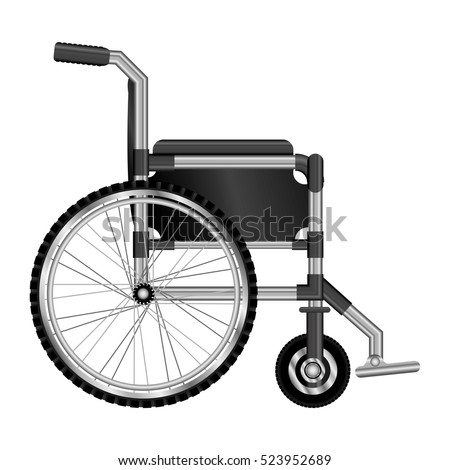 wheelchair design medical element icon