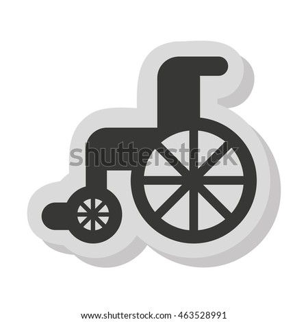 wheelchair disable isolated icon vector illustration graphic
