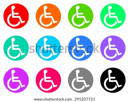 wheelchair flat design modern icon for web and mobile app - stock vector