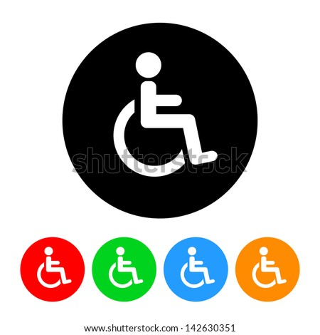 Wheelchair Handicap Icon - stock vector