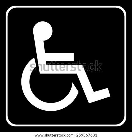 Handicap Logo Black And White