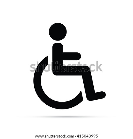 Wheelchair Symbol Icon - stock vector