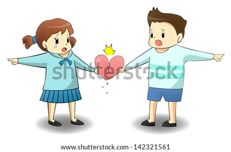 When a lover is on different path, will it destroy their relationship? create by vector  - stock vector