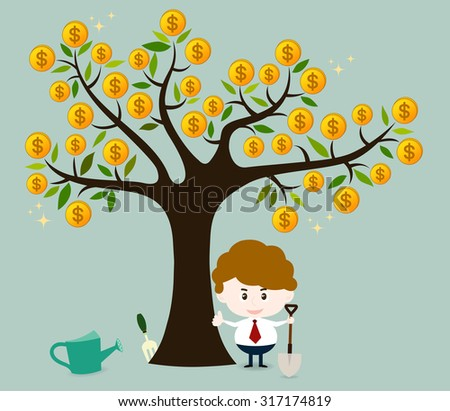 When you take care your funding. It will be grow up and good benefit for you in the future. - stock vector