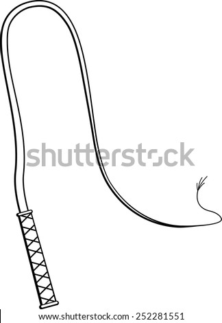 whip - stock vector