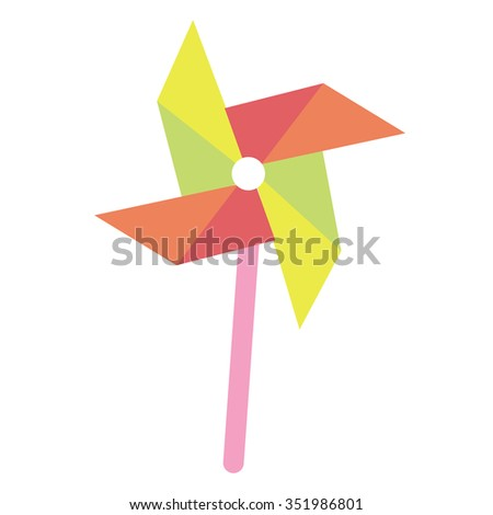 whirligig toy vector