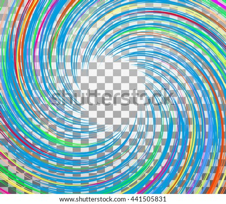 Whirlpool vector background in round shape.Isolated vortex on background.Wave ornate background.Abstract background wave.Color vector Illustration.Geometric halftone vector. - stock vector