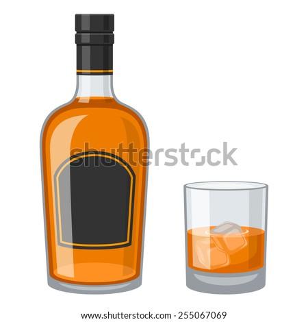 Whiskey - stock vector