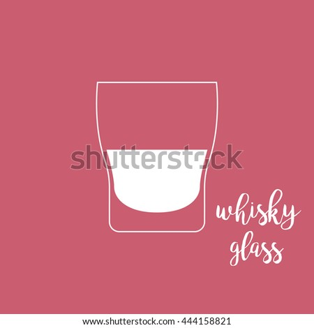 Whisky glass icon - stock vector