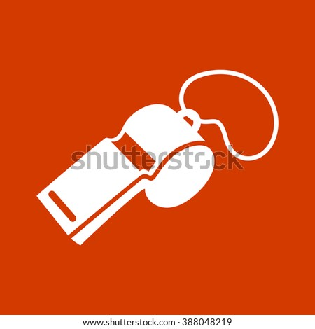 whistle icon. - stock vector
