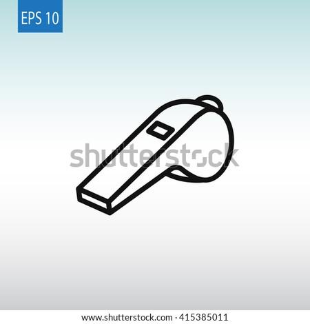 Whistle Icon. Whistle Icon Vector. Whistle Icon Art. Whistle Icon eps. Whistle Icon Image. Whistle Icon logo. Whistle Icon Sign. Whistle Icon Flat. Whistle Icon design. Whistle icon app. - stock vector