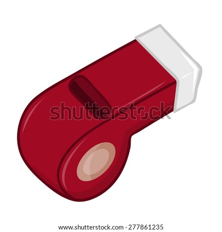 whistle isolated illustration on white background - stock vector