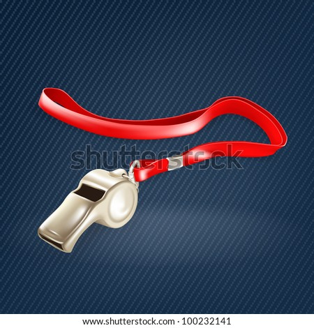Whistle, mesh - stock vector