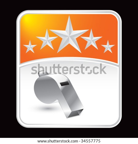 whistle on superstar background - stock vector