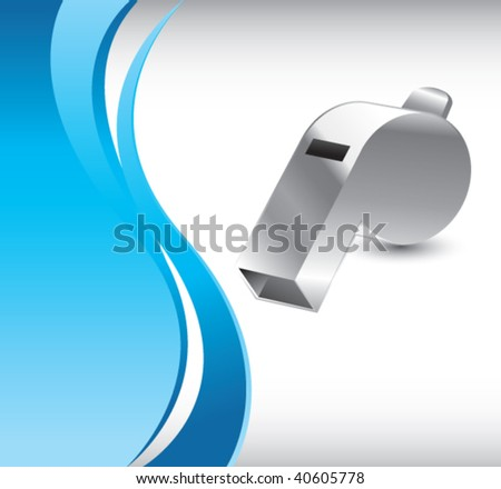 whistle on vertical wave background - stock vector