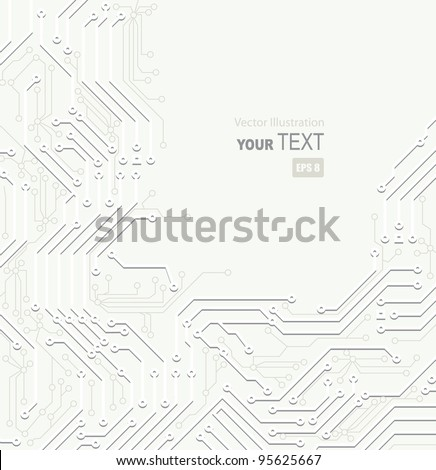 White  Abstract background of digital technologies - stock vector