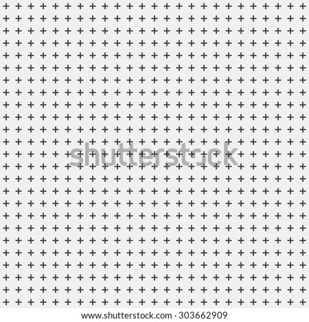 White abstract background with seamless random dark crosses, dots, grunge texture for design concepts, posters, banners, web, presentations and prints. Vector illustration. - stock vector